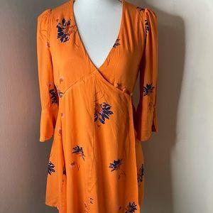 Free People orange dress SZ Medium